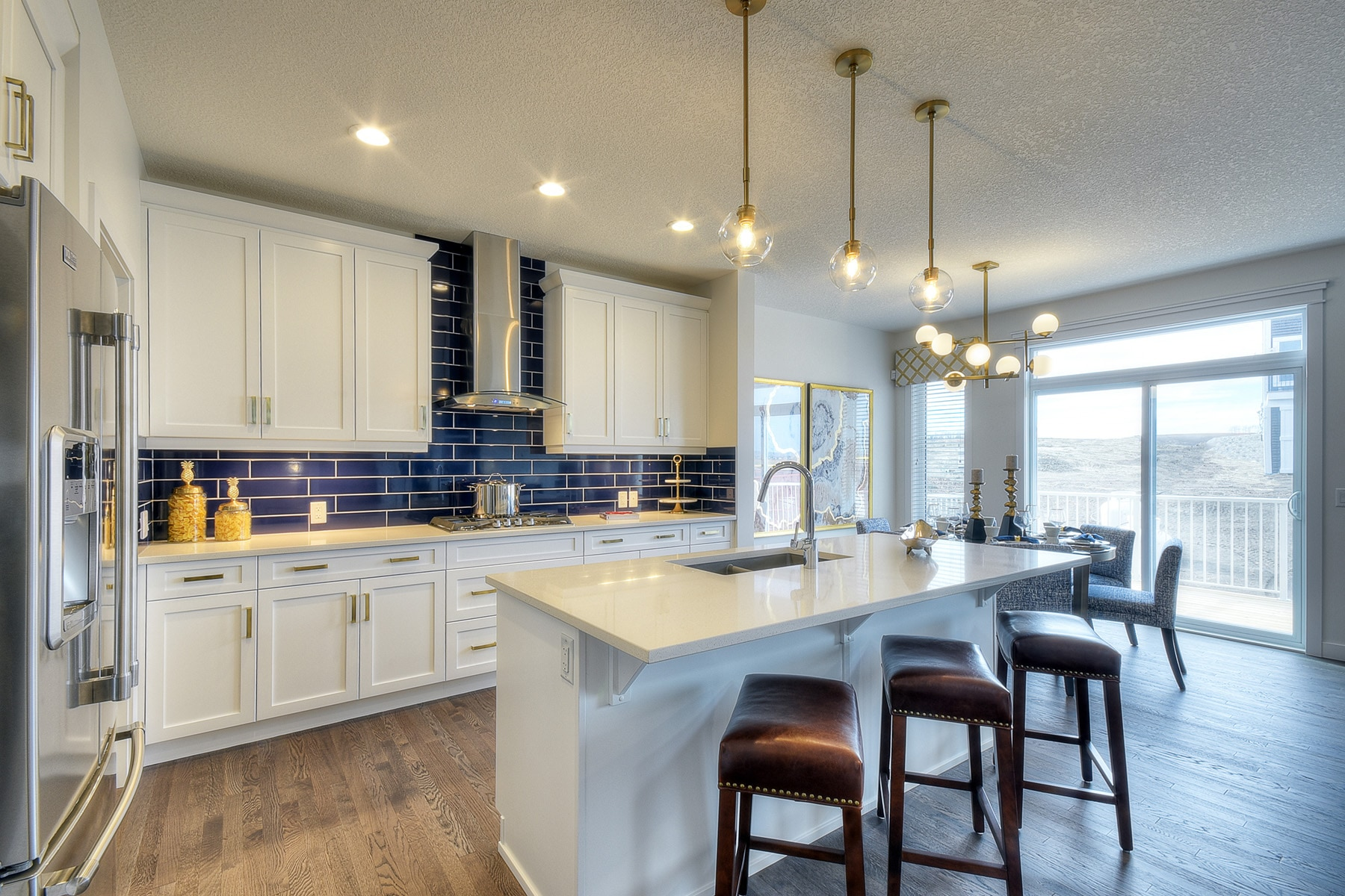 The Kingsley kitchen by NuVista Homes